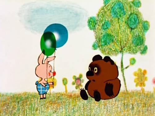 Красивая картинка Пятачок с шариками скачать бесплатно на ...