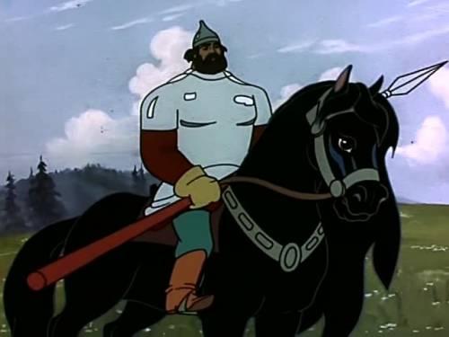 Красивая картинка богатырь на коне