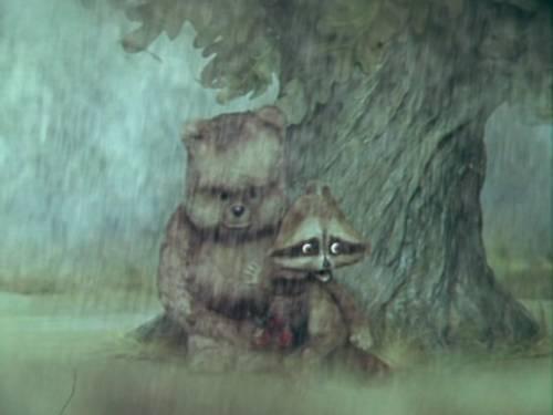 Красивая картинка медведь и енот