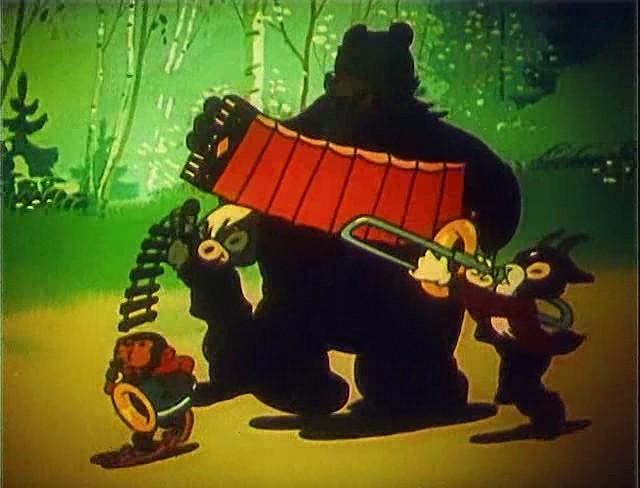 ловля медведя на баяне