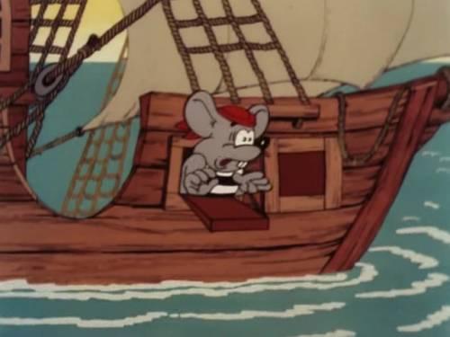 Красивая картинка мышь на корабле